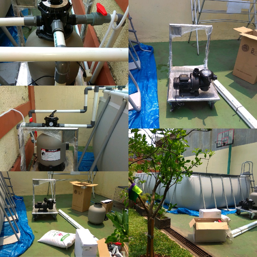 jasa pemasangan pompa dan filter untuk kolam renang portable